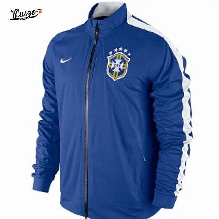 Jaqueta Nike Esporte Futebol Seleção Brasileira Azul