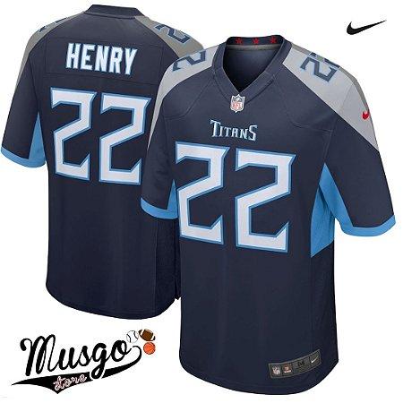 Camisa Nike Esporte Futebol Americano Tennessee Titans Derrick Henry Número 22