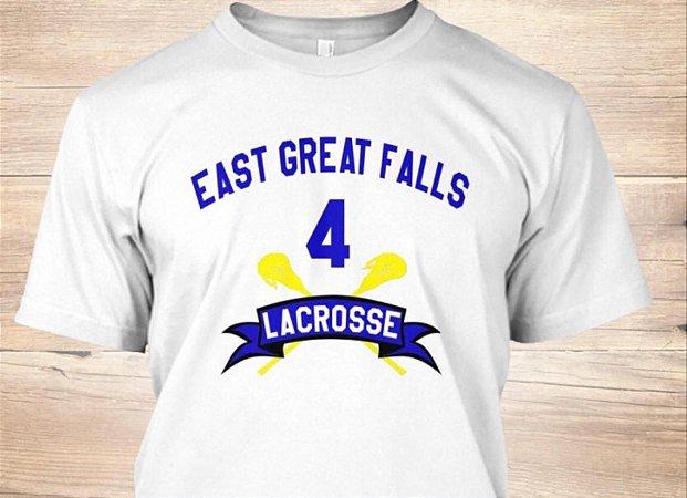 Camisa Filme American Pie Lacrosse Team Steve Stifler Número 4 Branca