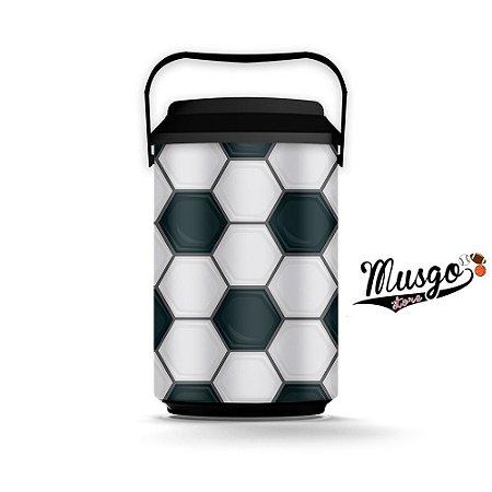 Cooler Esporte Futebol Bola Preto e Branco