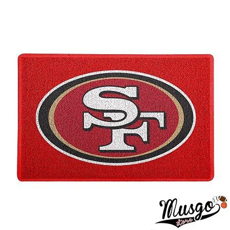 Tapeta Capacho Esporte Futebol Americano NFL San Francisco 49ers Logo Vermelho