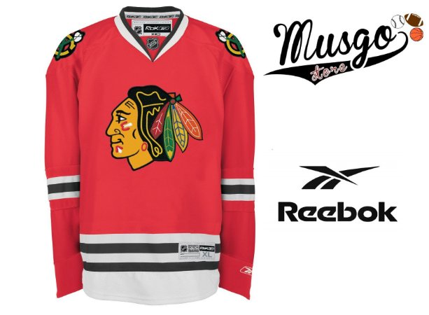 Camisa Esporte Hockey NHL Chicago BlackHawks Richards Número 91 Vermelha