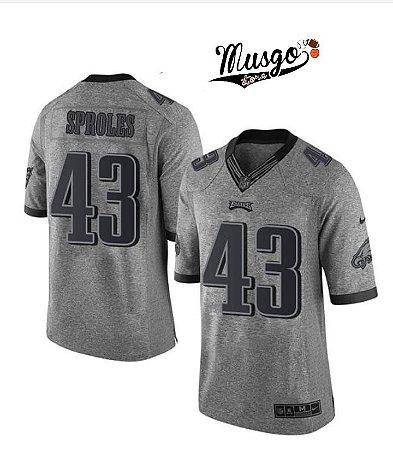 Camisa Nike Esporte Futebol Americano NFL Philadelphia Eagles Darren Sproles Número 43 CInza