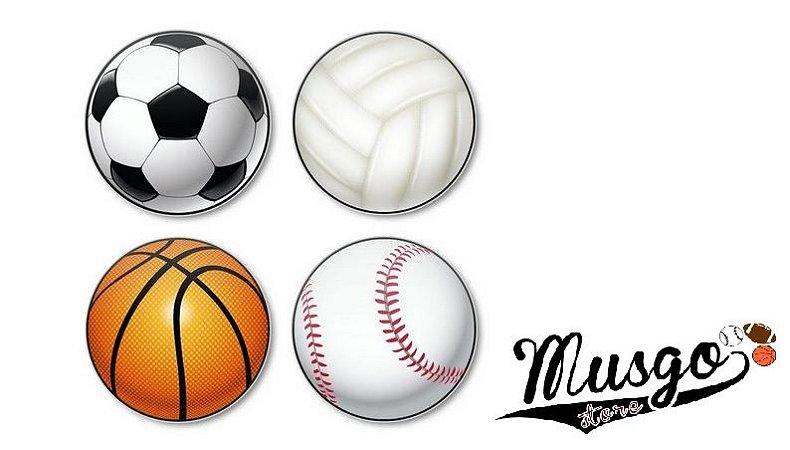 Porta Copos de acrílico Bolas Esportes