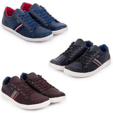 0d171f489 Kit 3 Sapatênis Cook Shoes Casual 9001 - MDFIEL Calçados - Uma ...