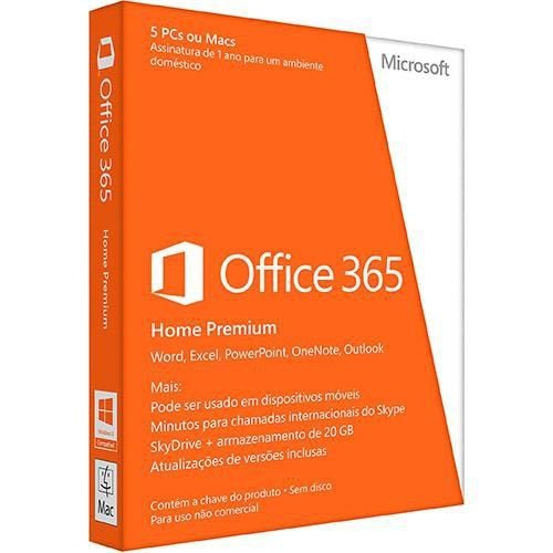 c860e2553 MICROSOFT OFFICE 365 HOME – 5 LICENÇAS (PC