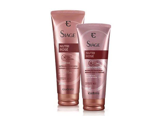 Kit shampoo e condicionador Siàge Nutri Rosé
