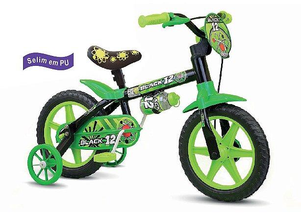 Bicicleta Infantil Black Aro 12 - Nathor