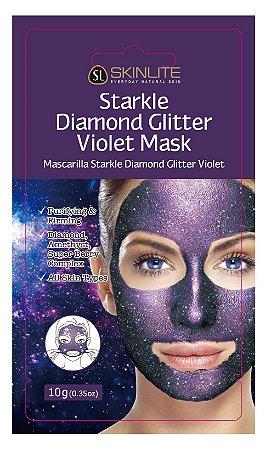 Kit 3 Unids Máscara Facial Starkle Diamante Glitter Violeta - Skinlite