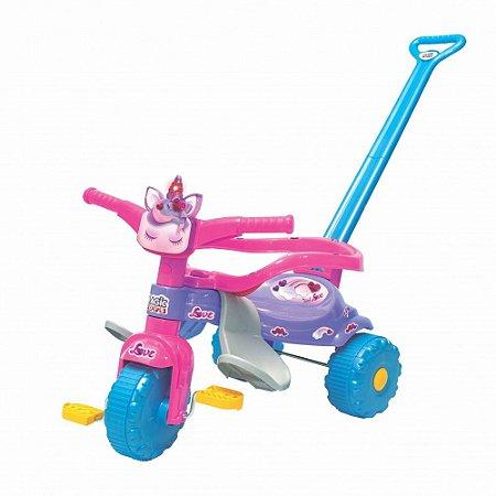 Triciclo Motoca Infantil Tico Tico Uni Love Com Luz - Magic Toys