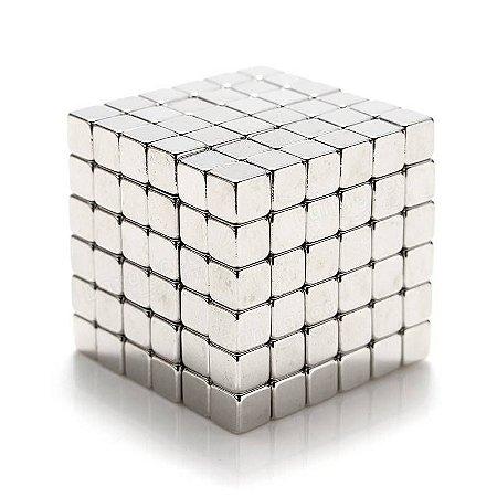 Cubo Magnético quadrado 216 peças Neocube prateado 3mm