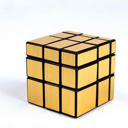 Cubo Mágico Mirror Cube espelhado Blocks Shengshou dourado