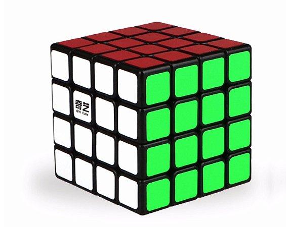 Cubo Mágico Profissional QiYi 4x4x4 com adesivo