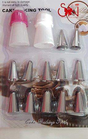 kIt de Bicos de Confeitar com 12 unidades e Matriz