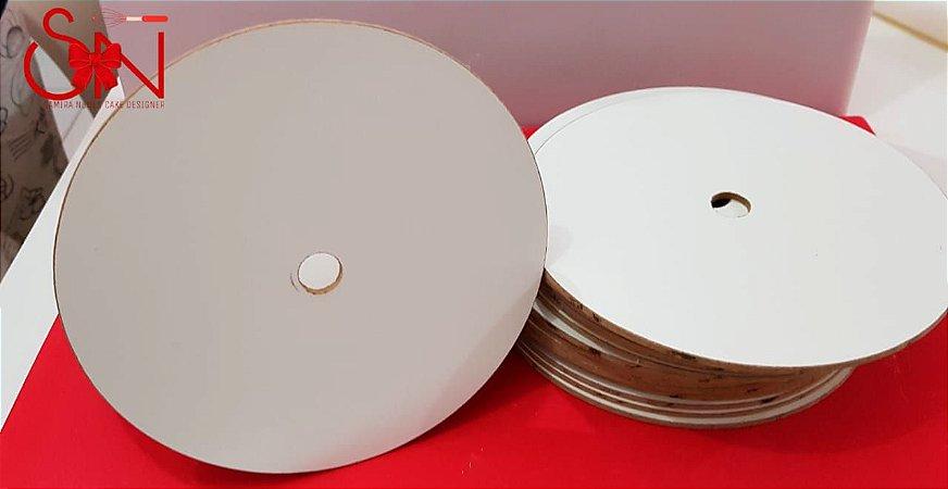 Disco de MDF Formicado para Estruturação de Bolos 31cm