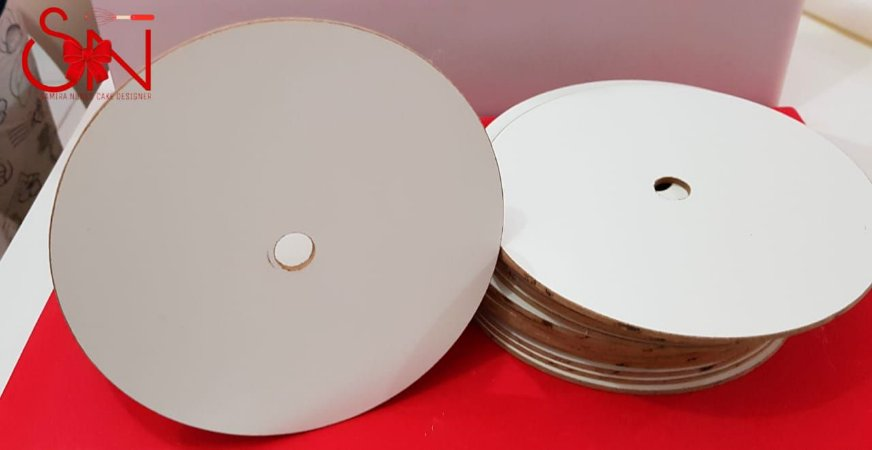 Disco de MDF Formicado para Estruturação de Bolos 16cm