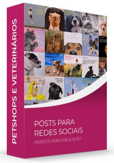 Pets e Vets POSTS Veterinário e Pet Shop- POSTS para Redes Sociais