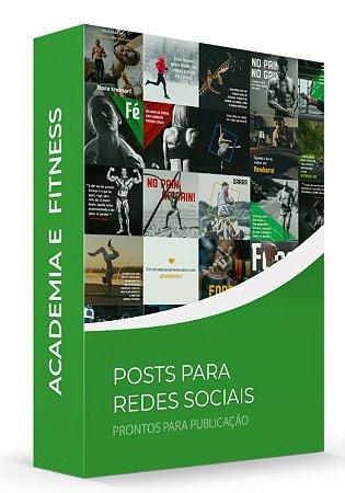 Academia e Fitness - POSTS para Redes Sociais