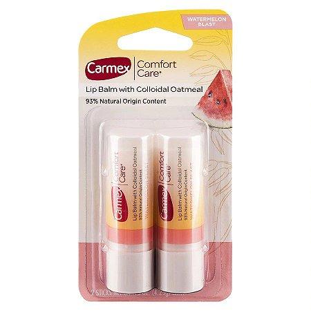 Carmex - Protetor Labial - Natural com Melancia - 2 Bastões