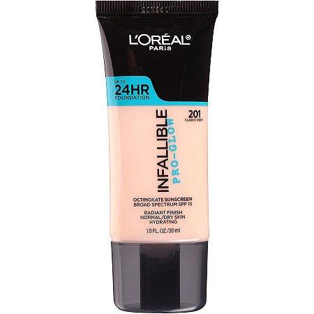 L'Oreal - Base Infallible Pro-Glow - 201 - Classic Ivory