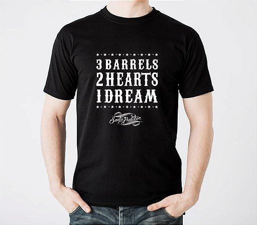 Camiseta 3 Barrels Preta