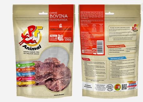 Petisco Natural Carne Bovina Desidratada - PF Animal 100gr