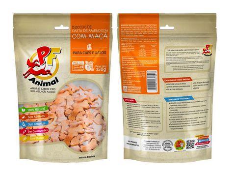 Biscoito Natural Pasta de Amendoim e Maçã - PF Animal 150g