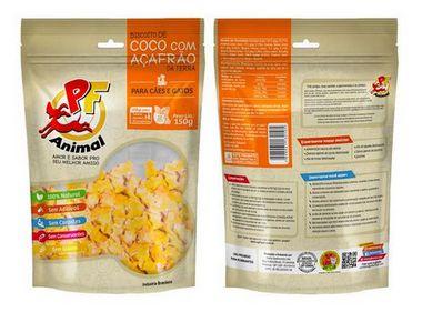 Biscoito Natural Coco e Açafrão da terra - PF Animal 150g
