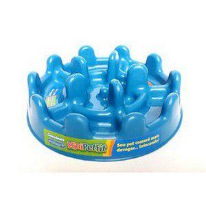 Comedouro Lento - Pet Fit Azul