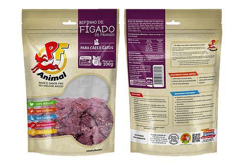 Petisco Bifinho de Fígado de Frango - 100g