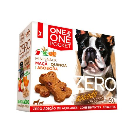 Petisco Mini Snack ZERO POCKET Spin Pet - 50g - Maca + Abobora + Quinoa