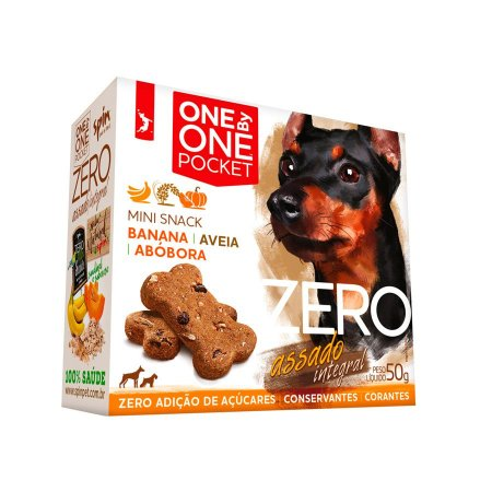 Petisco Mini Snack ZERO POCKET Spin Pet - 50g - Banana + Abobora + Aveia