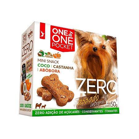 Petisco Mini Snack ZERO POCKET Spin Pet - 50g - Coco + Abobora + Castanha