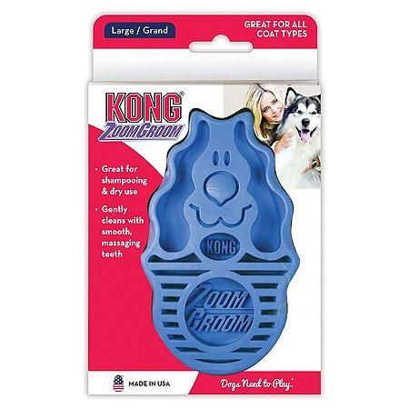 Escova Massageadora Kong Zoomgroom Azul
