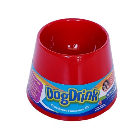 Bebedouro funcional alto - Dog Drink Vermelho