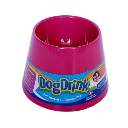 Bebedouro funcional alto - Dog Drink Rosa