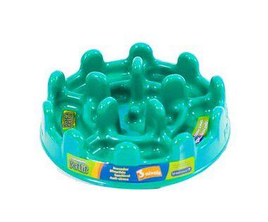 Comedouro Lento - Pet Fit Verde-água Tamanho:G
