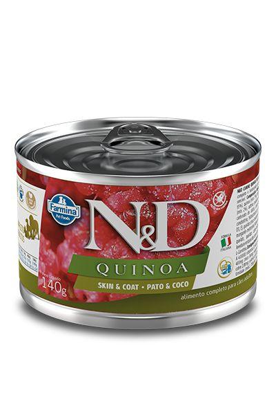 Alimento Úmido para Cães N&D Quinoa Peles Sensíveis Pato & Coco - 140g