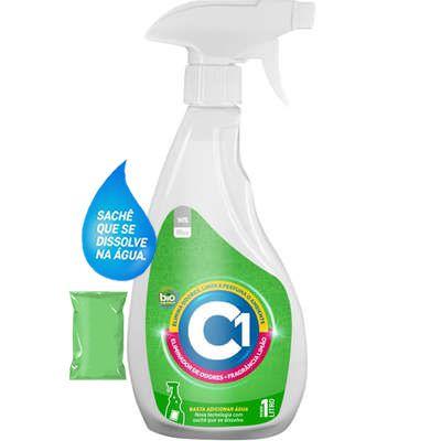 Eliminador de Odores C1 - Limão Kit Spray + Refil 1L