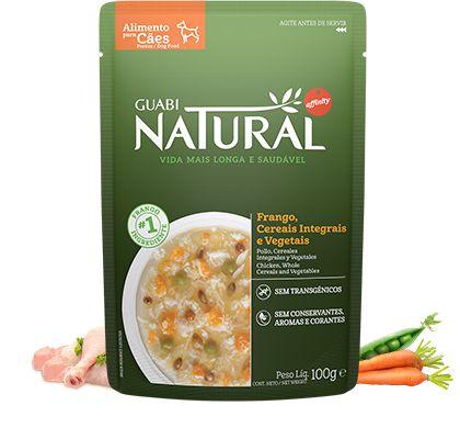 Alimento Úmido para Cães Guabi Natural - Salmão e Frango 100g