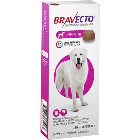 Bravecto Antipulgas Mastigável para Cães de 40 a 56 kg
