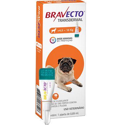 Bravecto Antipulgas Transdermal para Cães de 4,5 A 10 kg