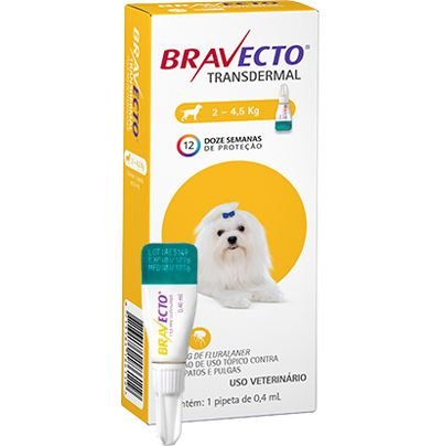 Bravecto Antipulgas Transdermal para Cães de 2 a 4,5 kg