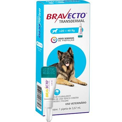 Bravecto Antipulgas Transdermal para Cães de 20 A 40 kg