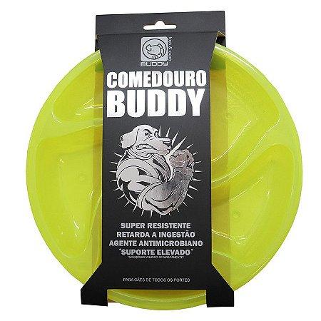 Comedouro Lento Buddy Toys - Amarelo Neon