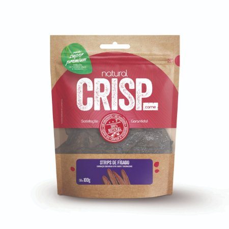 Petisco Natural Crisp - Strips de fígado 100g