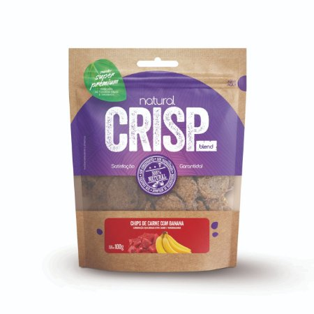 Petisco Natural Crisp - Chips Carne e Banana 100g