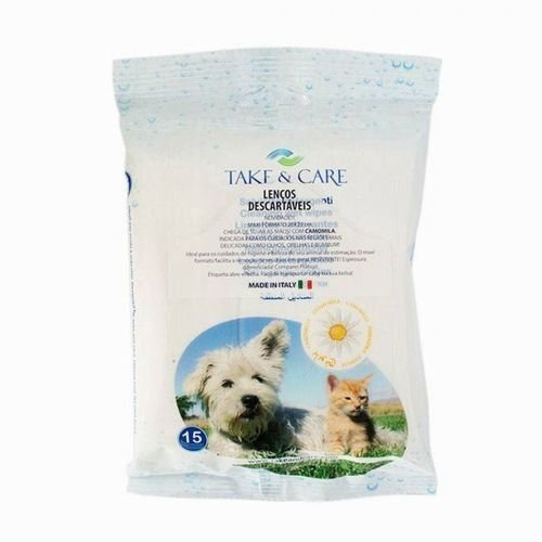 Lenços Umedecidos Pet Take & Care Camomila - 15un