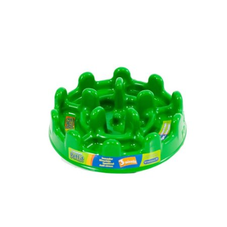 Comedouro Lento Pet Fit Mini - Verde