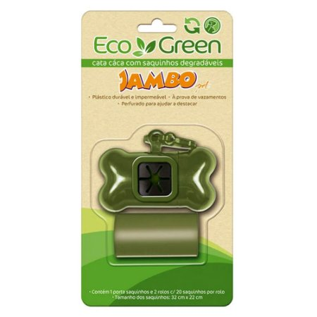 Cata Caca Eco Green Jambo - Kit Porta Saquinhos + Refil